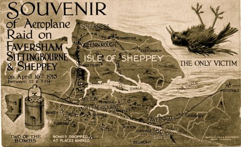 Souvenir of Airplane Raid on Faversham & Sheppey